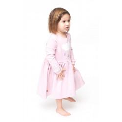 Kleit, roosa, suurus - 3/4 aastat - 98/104 cm