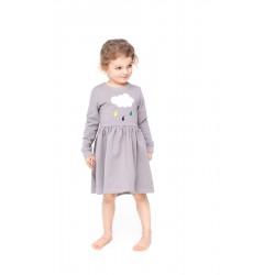 Kleit, hall, suurus - 4/5 aastat - 110/116 cm