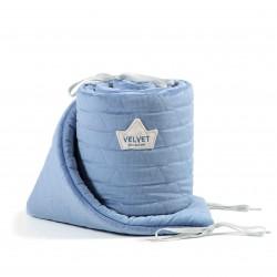 Voodipehmendus, velvet, dove blue