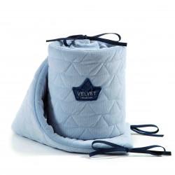 Voodipehmendus, velvet, dusty blue