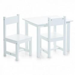 Laste komplekt valge (laud ja 2 tooli)