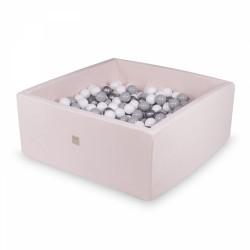Pallimeri kandiline 90x90x40 cm + 200 palli, roosa