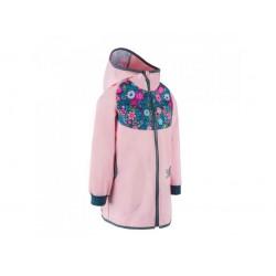 Laste õhuke ilma voodrita mantel, roosa/lilled