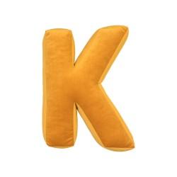 Velvet täht K kollane