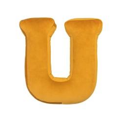 Velvet täht U kollane