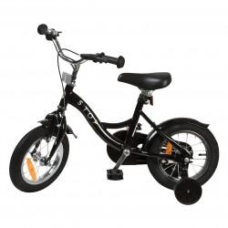 """Jalgratas Classic 12"""" abiratastega , must"""