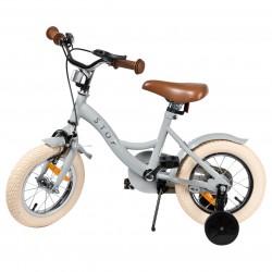 """Jalgratas Vintage 12"""" abiratastega , helehall"""