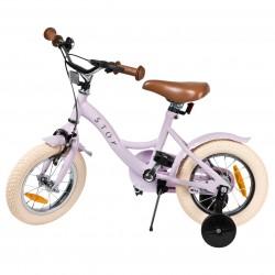 """Jalgratas Vintage 12"""" abiratastega , heleroosa"""