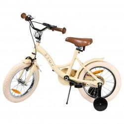 """Jalgratas Vintage 14"""" abiratastega , kreem"""