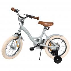 """Jalgratas Vintage 14"""" abiratastega , helehall"""