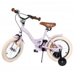 """Jalgratas Vintage 14"""" abiratastega , heleroosa"""