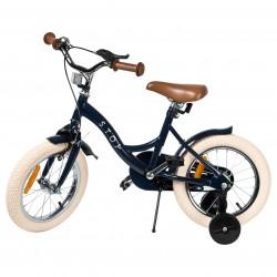 """Jalgratas Vintage 14"""" abiratastega , tumesinine"""