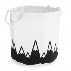 Mänguasjakorv valge, mustad mäed