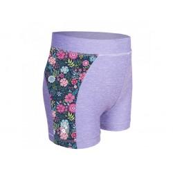 Laste lühikesed püksid, UV 50+, hall/flowers