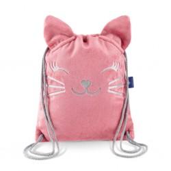 Laste seljakott, roosa kiisu