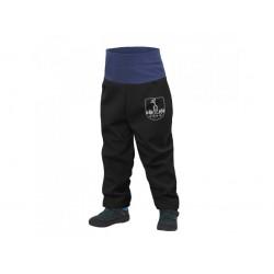 Softshell püksid fliisvoodriga väikelastele, must