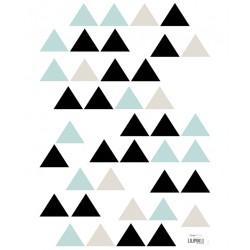 Seinakleebised, kolmnurgad, hall/mint/must