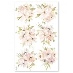 Seinakleebis akvarell lilled