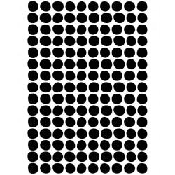 Seinakleebised A3, mustad täpid