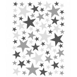 Seinakleebised Stars, 74 tk, hall