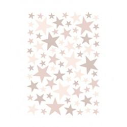 Seinakleebised Stars, 74 tk, vanaroosa