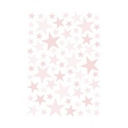 Seinakleebised Stars, 74 tk, roosa