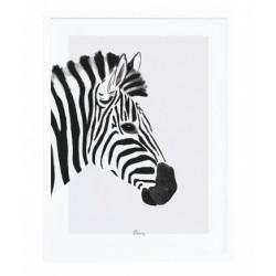 Lastetoa pilt, zebra, must/valge