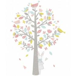 Seinakleebis pastell puu
