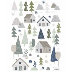 Seinakleebis puud ja majad