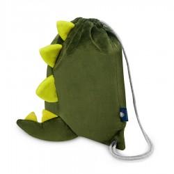 Laste seljakott, roheline dinosaurus
