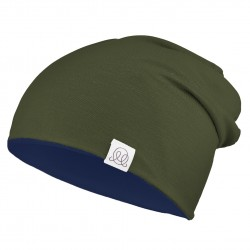 Müts, bambus, navy-roheline