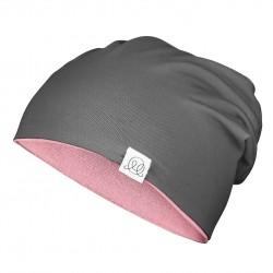 Müts, bambus, roosa-grafiit