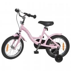 """Jalgratas Classic 14"""" abiratastega , roosa"""