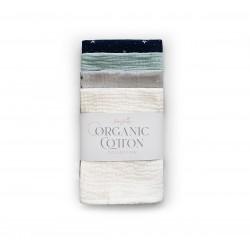 Orgaanilised musliinlapid (30x30 cm), 4 tk