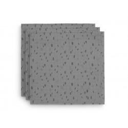 Musliinlapid, 70x70 cm, 3 tk, storm grey