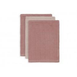 Beebilapid bambus 15x20 cm, 3 tk, pale pink