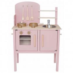 Puidust mänguköök, roosa