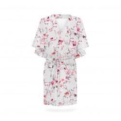 Hommikumantel / kimono, grey flowers