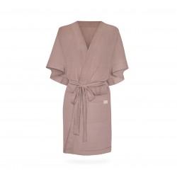 Hommikumantel / kimono, linane, adobe rose