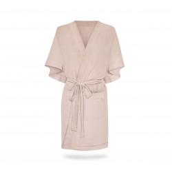 Hommikumantel / kimono, linane, sepia rose