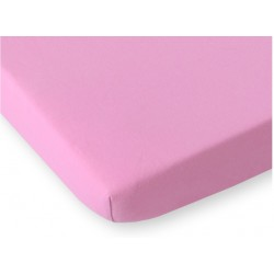 Kummiga voodilina jersey, roosa