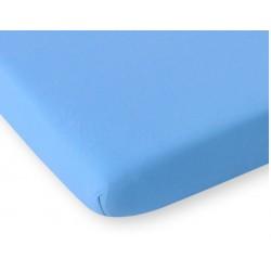 Kummiga voodilina jersey, sinine
