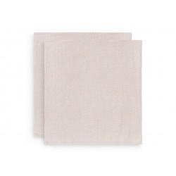 Musliinlapid puuvill 115x115 cm, 2 tk, pale pink