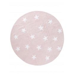 Pestav lastetoa vaip Bambini Ø 150CM, tähed, roosa