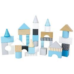 Puidust ehitusklotsid, sinine