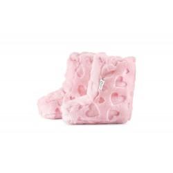 Soojad beebipapud, minky südamed, roosa